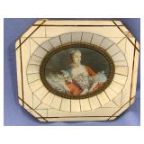 Victorian era picture frame made from ivory pieces