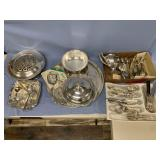 Very large lot of silver plated dinner ware, incl)