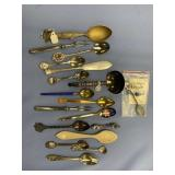 Lot of 16 collectors spoons, olive forks, etc.