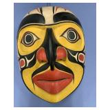 "Reproduction Tlingit style mask, approx. 9 1/2"" lo"