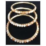 Lot of 3 Bangel Bracelets Bead style     (O 19)