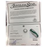 Diamond and Emerald Platinum Band COA included (re