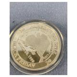 1 Oz. silver coin commemorating Exxon Valdez oil s