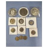 Lot of 12: Miscellaneous US coins w/various dates