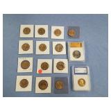 Lot of 15: US Presidential Dollar Coins,  2004 S I