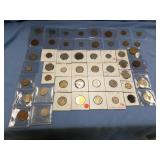 Bag lot of various dates of foreign coins       (3