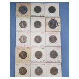 Lot of 15 French coins w/various dates       (33)