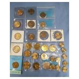 Bag lot of US Dollar Coins, nickels, and mixed for