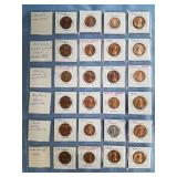Various dates US pennies and Italian Coin        (