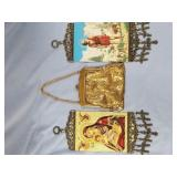 Modern enamel brass mesh coin purse              (