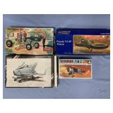 Lot of 4 models WWI Goshawk F11C 1:72, Ford Model