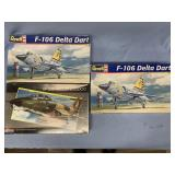 Lot of 3 models F-106 Delta Dark 1:48 x 2, RF-101B