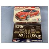 Lot of 2 models 2005 Peugeot 307 1:24, US Aircraft