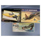 Lot of 3 models P47 Thunderbolt 1:48, F5 Aggressor