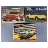 Lot of 3 models Dodge Viper RT/10 1:25, 1978 Corve