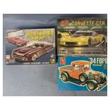 Lot of 3 models 1958 Ford T-Bird convertible 2 con