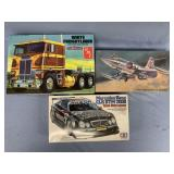 Lot of 3 models F104 Starfighter 1:48, Mercedes Be