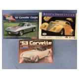 Lot of 3 models 1967 Corvette coupe 1:26, 1953 Cor