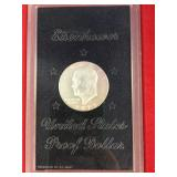 1973 S Uncirculated Eisenhower dollar in display b