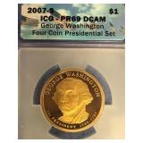 2007 S  George Washington Presidential dollar PR69