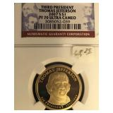 2006 S Thomas Jefferson Presidential coin PF70 Ult