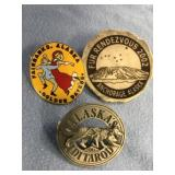 Lot of 3:  1996 Iditarod 2002 antler Fur Rondy 198
