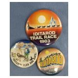 Lot of 3 Iditarod pins: 1983, 1985, 1987      (M 1