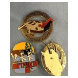 3 Pins:  1979 Fur Rondy 1980 Iditarod 1989 Fur Ron