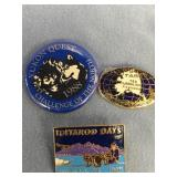 Lot of 3: 1988 Yukon Quest pin, 1995 Iditarod days