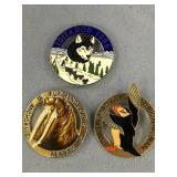 Lot of 3: 1986 Iditarod, 1988 Fur Rondy, 1984 Fur