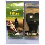 Lot of 2:  emergency water filter and a Black Hawk