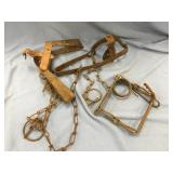 Lot of 3 vintage animal traps            (O 16)