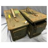 Lot of 2 large military ammo cans            (O 16