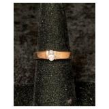 Fashion ring size 7 1/2 with small CZ centerpiece