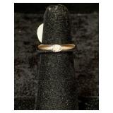 Fashion ring size 5 small CZ centerpiece       (M
