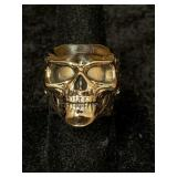Fashion ring size 8 1/2 features skull face with s