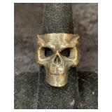 Fashion ring size 7 1/2 with skull face       (M 9