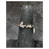 "Fashion ring size 5 ""LOVE""       (M 91)"