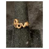 "Fashion ring size 8  ""LOVE""       (M 91)"