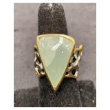 Fashion ring size 8 abstract with stone center