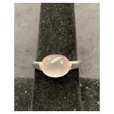 Fashion ring size 8 1/2 with single rose quartz ca