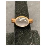 Fashion ring copper plated, size 6 1/2 single smok