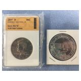 Lot of 2: 2007 D Kennedy half dollar SGS MS 70, Fl