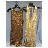 Lot of 2 sequined lady