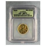 2000 Gold Austrian 500 Schilling coin, commemorati