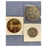 Lot of 3 coins, 2000 S Sacagawea dollar coin, 1964