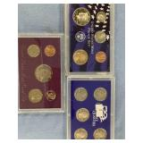 Lot of 3 assorted mint proof sets, 1990,2006 S, 20