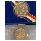 Lot of 2 1986 half dollar coins            (33)