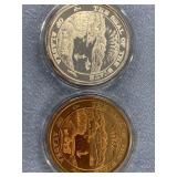 Lot of 2 coins from Anchorage coin club in present
