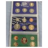 Lot of 2 US mint proof sets 2004 S & 1995 S